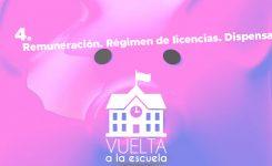 Vuelta a la escuela: Remuneración. Régimen de licencias. Dispensas